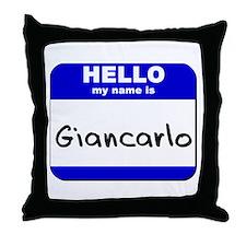 hello my name is giancarlo  Throw Pillow