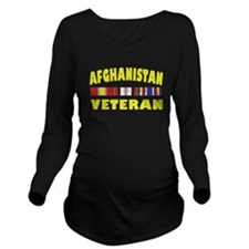 Afghanistan Veteran Long Sleeve Maternity T-Shirt