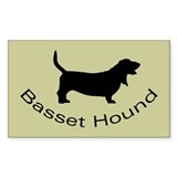 Basset Hound Dog Rectangle Decal