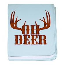 Oh Deer baby blanket