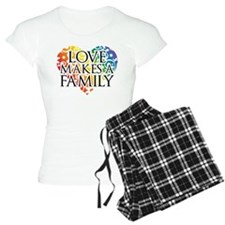 Love Makes A Family LGBT Pajamas