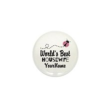 World's Best Housewife Mini Button (10 pack)