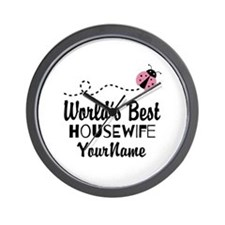 World's Best Housewife Wall Clock