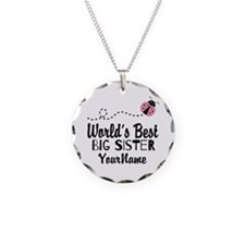 Worlds Best Big Sister - Personalized Necklace Cir