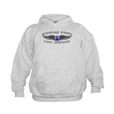 Rectal Cancer Courage Wings Hoodie