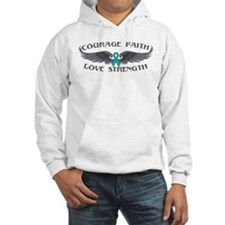 Ovarian Cancer Courage Wings Hoodie