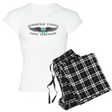 Ovarian Cancer Courage Wings Pajamas