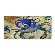 Sandy Blue Crabs Beach Towel