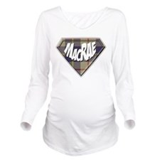 MacRae Superhero Long Sleeve Maternity T-Shirt
