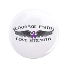"Lupus Courage Wings 3.5"" Button"