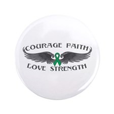 "Liver Cancer Courage Wings 3.5"" Button"