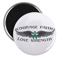 "Liver Cancer Courage Wings 2.25"" Magnet (100 pack)"