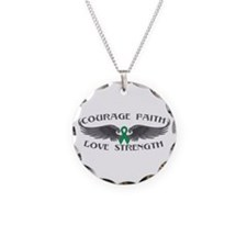 Liver Cancer Courage Wings Necklace