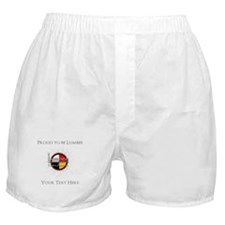 Personalized Proud to be Lumbee Boxer Shorts