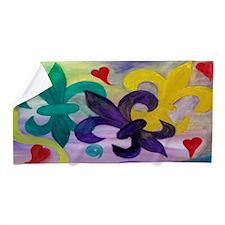 Mardi Gras Fleur De Lis Beach Towel