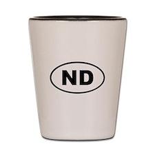 North Dakota ND Shot Glass
