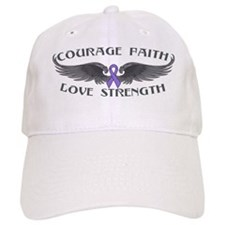 Hodgkins Lymphoma Courage Wings Baseball Cap