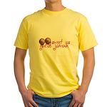 Sweet as gulab jamun Yellow T-Shirt