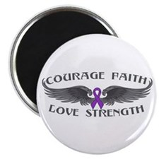 "Epilepsy Courage Wings 2.25"" Magnet (10 pack)"
