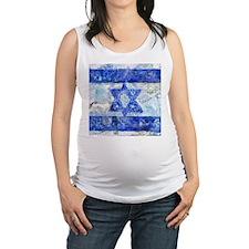Israeli Flag Maternity Tank Top