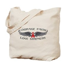 AIDS HIV Courage Wings Tote Bag