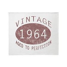 1964 Vintage Birthday (red) Throw Blanket