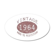 1964 Vintage Birthday (red) Decal Wall Sticker