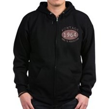 1964 Vintage Birthday (red) Zip Hoodie