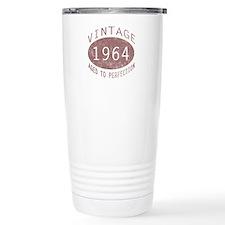 1964 Vintage Birthday (red) Travel Mug