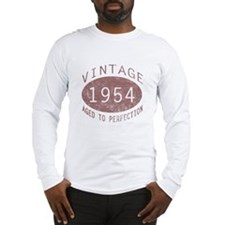 1954 Vintage Birthday (red) Long Sleeve T-Shirt