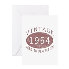 1954 Vintage Birthday (red) Greeting Card