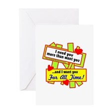 Want You For All Time-Glen Campbell Greeting Cards
