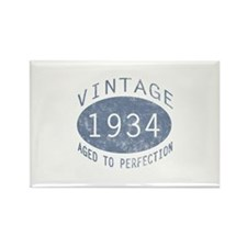 1934 Vintage Birthday (blue) Rectangle Magnet