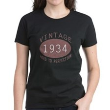 1934 Vintage Birthday (red) Tee