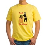 Funny Alien / Ufo Yellow T-Shirt