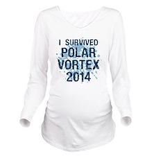 Polar Vortex 2014 Long Sleeve Maternity T-Shirt