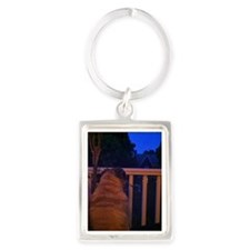 Christmas Pug Dreams Portrait Keychain