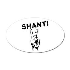 Shanti 35x21 Oval Wall Decal