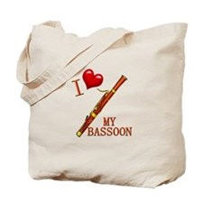 I Love My BASSOON Tote Bag