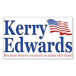 John Kerry John Edwards Rectangle Sticker