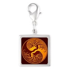 Yellow and Red Yin Yang Tree Charms