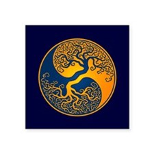 Yellow and Blue Yin Yang Tree Sticker