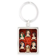 Six Wives of Henry VIII Portrait Keychain