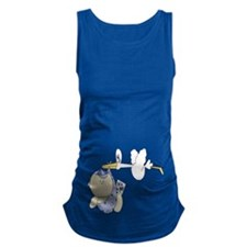 Its A Boy...Baby Boy With Stork Maternity Tank Top