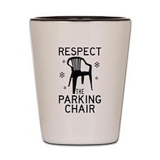 Respect The Parking Chair Shot Glass