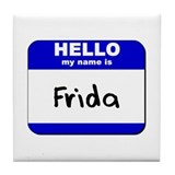 hello my name is frida  Tile Coaster