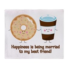 Coffee and Donut Married BF Throw Blanket