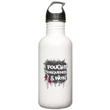 Throat Cancer Fought Won Water Bottle