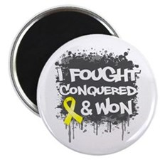 "Testicular Cancer Fought Won 2.25"" Magnet (100 pac"