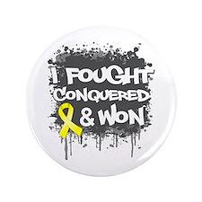 "Testicular Cancer Fought Won 3.5"" Button"